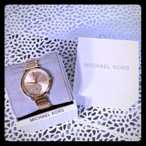 Michael Kors Watch pink rose/gold include box used